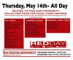 2015 Food Drive! #GiveWhereYouLive #KWREDDay Non Perishable Foods, Red Day, Food Drive, Baked Beans, Personal Care, Self Care, Eating Habits, Bake Beans