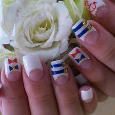 Love The 40s Style French Manicure!