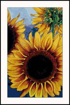 Sunny Sunflowers  cross stitch pattern.