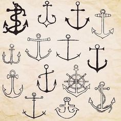 Different anchors for your nautical themed sororities!
