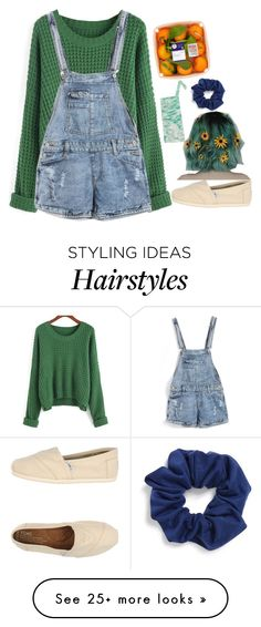 """""""— washing my hair out with vinegar"""" by styleofthechannels on Polyvore featuring Natasha Couture and TOMS"""
