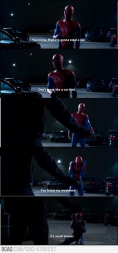 Spiderman! One of my favorite scenes.