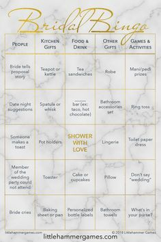 Bridal Bingo by Littlehammer Games is an unconventional twist on a traditional bridal shower game. One that your introverted guests will love! Shop now and entertain your guests. Wedding Planning Tips, Wedding Tips, Event Planning, Wedding Events, Wedding Planner, Destination Wedding, Wedding Day, Wedding Ceremony, Diy Wedding