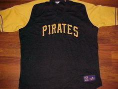 Pittsburgh Pirates MLB Majestic Cooperstown Black Scripted Pullover Jersey 2XL #Majestic #PittsburghPirates