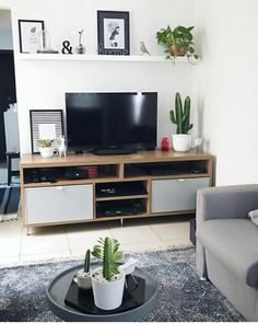 Home Decoration Ideas Ikea .Home Decoration Ideas Ikea Living Room Shelves, Living Room Tv, Living Room Interior, Home And Living, Interior Paint, Diy Apartment Decor, Apartment Living, Deco Studio, Home Remodeling