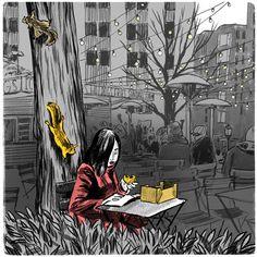 Drawing on Location, 2012 by Elizabeth Baddeley, via Behance