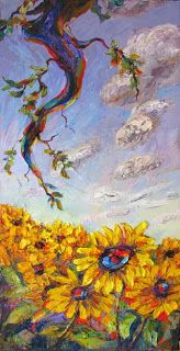 Artists Of Texas Contemporary Paintings and Art - New Sunflower Painting and Upcoming Provence Art Trek with Niki Gulley