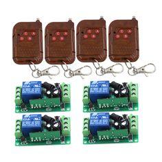 DC 12V 10A 1CH Wireless Remote Switch RF Remote Control Switch Transmitter Receiver Self-locking SKU: 5141