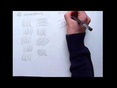 Tecnicas para aprender a dibujar - el trazo y ejercicios para calentar - YouTube