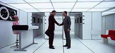 "taraantino: "" Cinematography Appreciation "" 2001: A Space Oddisey (1968) Director: Stanley Kubrick Cinematography by: Geoffrey Unsworth Aspect Ratio: 2.20 : 1 "" """