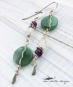 Handcrafted Jewelry by Sea Chelles Design - Amethyst, Quartz and Aventurine