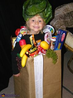 Bag of Groceries Costume - Halloween Costume Contest
