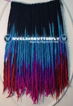 Wool Dreads, Synthetic Hair Extensions, & Accessories by Wool Dreads, Dreadlocks, Synthetic Hair Extensions, Festival Hair, Tie Dye Skirt, Parrot, Braids, Trending Outfits, Hair Styles
