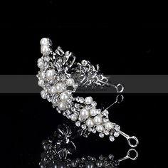 Tiares de mariée avec perles et cristaux