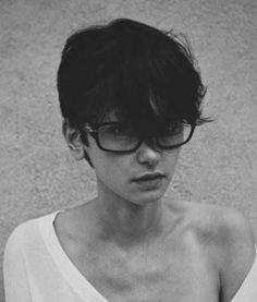 Messy Pixie Cut with Glasses: I wanna grow out my bangs so I can wear this style! It's so cute!!