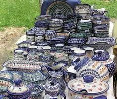 Polish Pottery - LOVE! I need the lemon lady, soup with ladle, berry bowl, large bowl for salads, spoon rest, salt and pepper shakers . . . endless list!