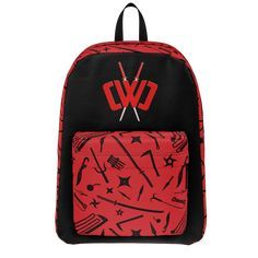 CWC Youth kids CHAD WILD CLAY INSPIRED school backpack MERCH PERSONALISED FREE