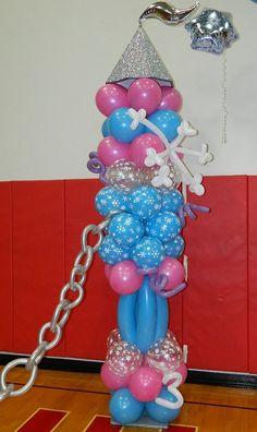 Balloon Castle Column Winter Snowflake Frozen Themed  www.itspartytimeandrentals.com