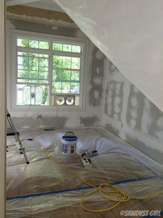 great tutorial on How to Reduce Drywall Dust when Sanding unless you're into the whole not breathing thing.