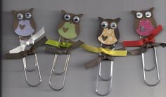 owl bookmarks.....have pre-made felt owls already.