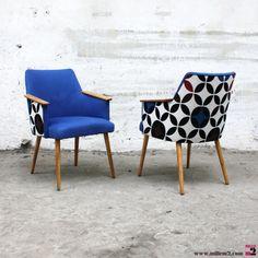 """Petit fauteuil vintage des années 60 géométrique """"cercles"""" - Mille m2"""