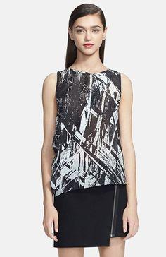 20316271408e4 Helmut Lang Meteor Print Silk Blend Top Helmut Lang