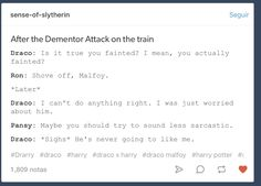 Harry Potter - Drarry I love that Pansy is usually supportive in fanfic