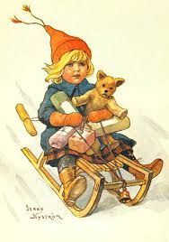Jenny Nistrom Stoopendaal e Curt Stoopendaal Swedish Christmas, Christmas Mood, Scandinavian Christmas, Kids Christmas, Xmas, Vintage Christmas Images, Christmas Pictures, Christmas Illustration, Vintage Greeting Cards