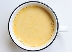 Creamy Turmeric Tea - * 8 ounces (1 cup) almond or coconut milk * 1/2 teaspoon turmeric * 1/2-inch wide round slice of ginger root, peeled and finely chopped * Dash of cayenne pepper * 1/2 – 1 teaspoon honey or other sweetener * Optional additions: cinnamon, cardamom