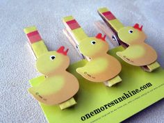 Yellow duck baby shower favor gift game or by OneMoreSunshine, $9.00
