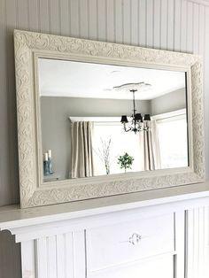 Ivory Shabby Chic Mirror Bathroom Decorative Framed Vanity Baroque Wall Ornate