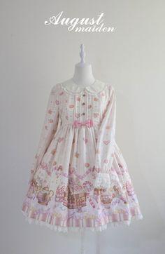 Ginger Cookie House Sweet Lolita OP Dress