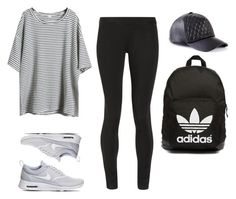 """""""Untitled #102"""" by sofiajelizondo ❤ liked on Polyvore featuring NIKE, The Row, SHOUROUK, GUESS, adidas Originals, women's clothing, women's fashion, women, female and woman"""