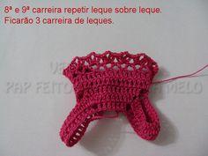 Feito a Mão por Juliana Melo: Passo a passo Vestido da Barbie em crochê