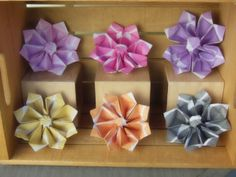 Halloween origami flower arrangement by florigamifashions on etsy 6 large origami flowers by florigamifashions on etsy mightylinksfo