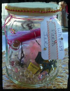 Whimsy Paris Jar~ full of goodies