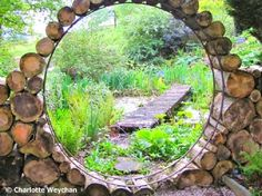 wooden moon gate