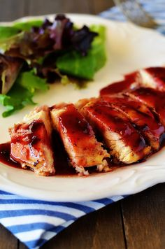 Grilled chicken gets a makeover with a heavenly, spicy raspberry sauce. This Raspberry Chicken is truly delicious and easy to make. It's a great dish to serve on a busy weeknight! A basic piece Raspberry Chicken, Raspberry Chipotle Sauce, Raspberry Recipes, Best Chicken Recipes, Turkey Recipes, Dinner Recipes, Dinner Ideas, Dinner Entrees, Meal Ideas