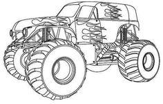 monster truck ausmalbilder zum ausdrucken g   g   pinterest