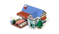 My town, everyone of town, Beverage Town! Factories and elementary school, my home in a shopping mall. Also there is a variety of Vehicles. Making various, trying to complete the Beverage Town of your own! www.kirin.co.jp