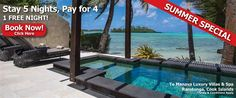 Ultimate Beachfront Villa (Three Bedroom) - Te Manava Luxury Villas and Spa - Rarotonga Accommodation Cook Islands