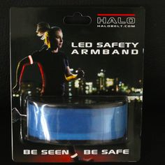 LED Safety Slap Band Armband for Cycling, Running, Jogging, and Walking - Best Reflective Flip Belt for High Visibility - Best Safety Gear for Women, Men & Kids - Safer Than a Reflective Vest - Blue : Sports & Outdoors