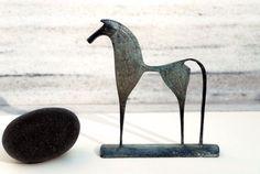 Greek Geometric Bronze Horse by GreekMythos on Etsy, $72.00