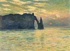 The Cliff, Étretat, Sunset, Claude Monet (at NCMA!)