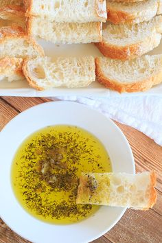Roasted Garlic & Herb Dipping Oil - Perfect with a loaf of crusty Italian bread! from @browneyedbaker