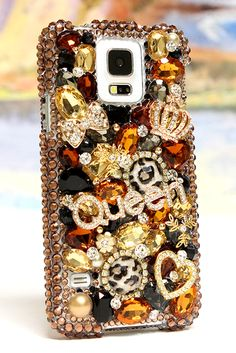 Fancy Feline Queen Design Samsung Galaxy s5 bling case fashion unique phone cover for girls