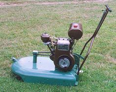 Just A Car Guy: Vintage lawn mowers - Modern Design Reel Lawn Mower, Rotary Lawn Mower, Push Lawn Mower, Lawn Mower Blades, Lawn Mower Tractor, Old Garden Tools, Lawn And Garden, Gardening Tools, Vintage Tractors