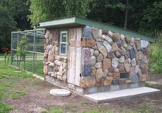 4 coop plans made from recycled materials - this stone one is my favorite!