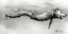Lup Dacic / Dacian Wolf by ZenBenZen on DeviantArt Wolf Tattoo Design, Tattoo Designs, Dibujos Tattoo, Crayon Drawings, Artist Pencils, Nordic Tattoo, Wood Carving Patterns, Samurai Art, Ancient Symbols