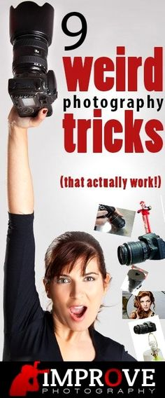 9 Weird Photography Tricks That Actually Work! Really have to try the photoshop trick---amazing Photography Lessons, Photography Camera, Photoshop Photography, Photography Tutorials, Photography Photos, Improve Photography, Digital Photography, Cool Photography Ideas, Indoor Photography Tips